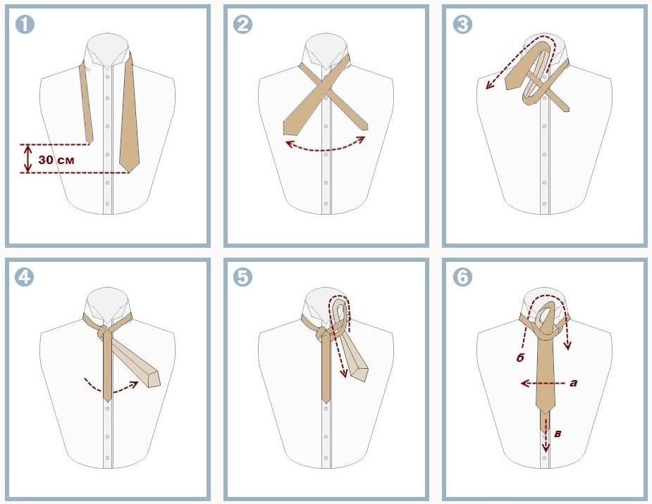 как завязать галстук инструкция в картинках очень вкусный вот